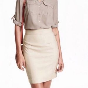 💎 H&M Nude Pencil Skirt | Size 6